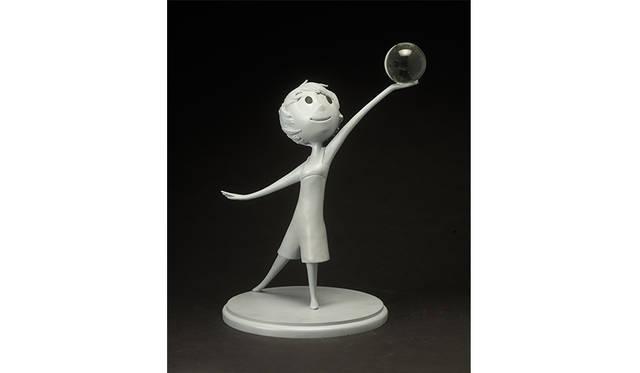 ジェローム・ランフト ≪ヨロコビ≫ 『インサイド・ヘッド』(2015年) ウレタン樹脂鋳造 ©Disney/Pixar