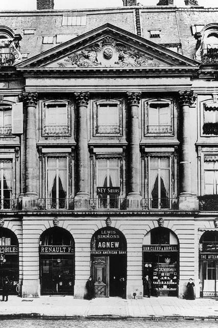 1906年、パリのヴァンドーム広場にオープンした最初のブティック