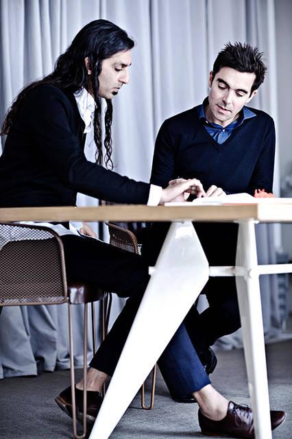銀座本店の設計を手掛ける建築家のサンジット・マンク(左)とデザイナーのパトリック・ジュアン(右)