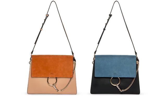 ノンシャランなクロエガールズのスピリットを象徴する「FAYE」バッグは、ラグジュアリーでエレガントかつエフォートレスな洗練された佇まいながら、アコーディオンガゼット(マチ)による高い収納力を兼ね備えた、アクティブなクロエガールズにふさわしいバッグ。バッグ(左よりcafé、myrtille)各21万1680円