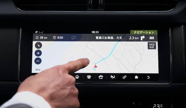 インコントロールタッチプロは10.2インチの静電式タッチスクリーン採用