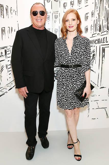 デザイナーMichael Kors(マイケル・コース)&Jessica Chastain(ジェシカ・チャスティン)© Getty Images for Michael Kors