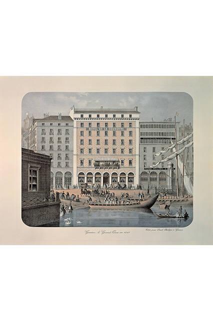 右側の建物が、パテック フィリップ社の前身となるパテック チャペック社の工房兼店舗サロン(1841年当時)。
