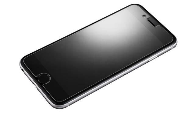 乱反射を防ぐアンチグレアのついた保護ガラス。iPhone 7、iPhone 7plus用ともに2,500円。9月下旬発売予定