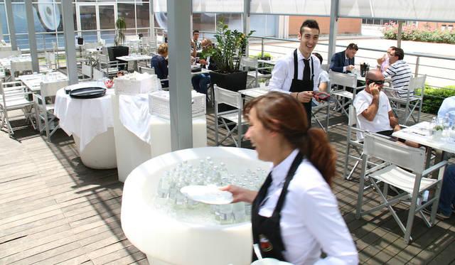 併設の「ミラフィオーリ・カフェ」