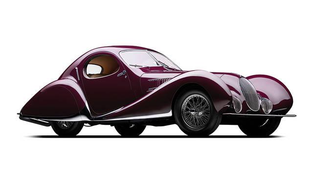最終選考車の「1937 タルボラーゴ・T150C SS ティアドロップ」。ベスト オブ ザ ベストに輝いた