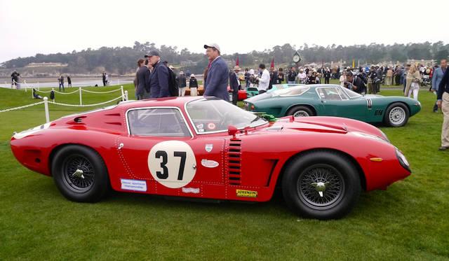 ビザリーニがリボルタ公爵のために設計したイソ・グリフォA3/Cドロゴ・ベルリネッタ(64年)はルマン24時間やシーブリング1000キロなど各レースで活躍した