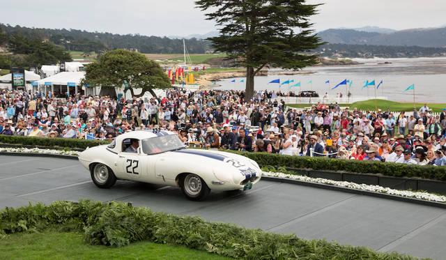 1978年に自動車コレクターとして著名はカニンガム氏の寄付によって設立された「ブリッグス・カニンガム・トロフィ」は最もエキサイティングなスポーツカーを授賞対象としており2016年はジャガー・ライトウェイトEタイプ・ロードスター(61年)に贈られたCopyright © Kimball Studios / Courtesy of Pebble Beach Concours d'Elegance