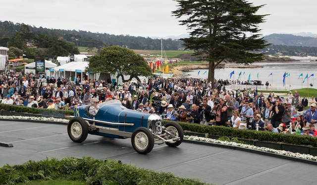 Class V(Two-Man Indianapolis Race Cars 1930–1937)部門1位のRigling & Stevens Pirrung Special(35年) Copyright © Kimball Studios / Courtesy of Pebble Beach Concours d'Elegance