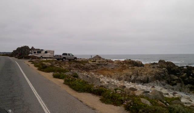 ペブルビーチ周辺の海岸線は気持ちのいいドライブが出来る
