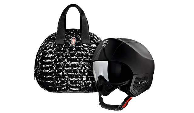 <strong>スノーヘルメット(Moncler Grenoble Snow Helmet)</strong><br /> ケースセット販売<br /> オーディオ機能付 10万円(税別)<br /> オーディオ機能なし 8万円(税別)<br />
