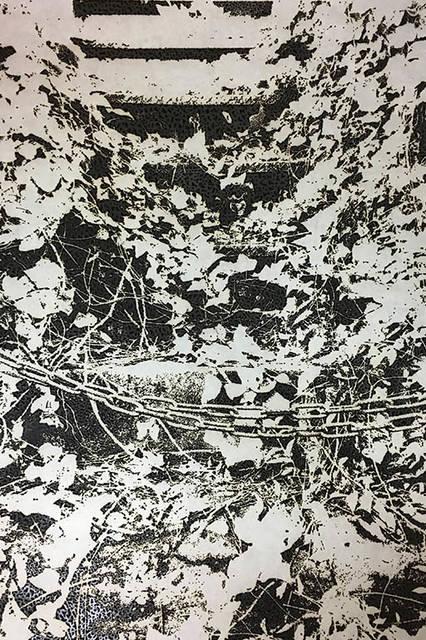 市川孝典/untitled(wood land)/2016/</br>burnt paper/ H2046mmxW1326mm</br>©Kosuke Ichikawa