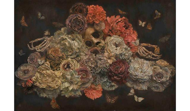 「花虫達 all the flowers and insects」(2013年制作)※DIOR HOMME契約作品のひとつ
