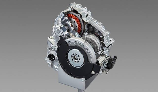 ワンウェイクラッチ付のトランスアクスルで、ジェネレーターの動作を発電または駆動両方に切り替えることができる
