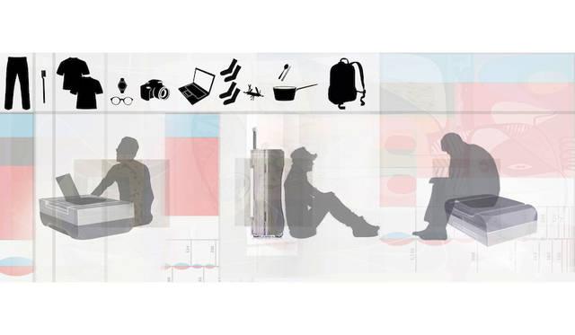 最小限の持ち物で、どこでもより豊かな生活を送るためのスーツケース<br> 作品名|HAVING NOTHING, AND YET POSSESSING EVERYTHING<br> 受賞者|アーラン・ウォン(Ahran Won)/韓国<br> メンター|ネリ・アンド・フー