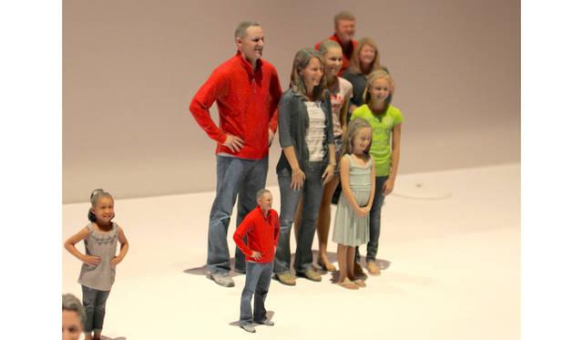 キャノンのブースにて。ニューヨークを本拠とするソリディフィ社とのコラボレーションにより、カスタムメイドの3Dフィギュア製作を実演。