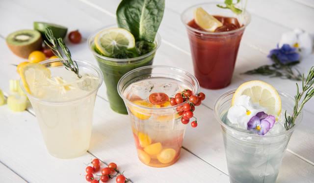 花咲くスミレスカッシュ 900円<br>トマトとフルーツの濃厚ジュース  1,000円