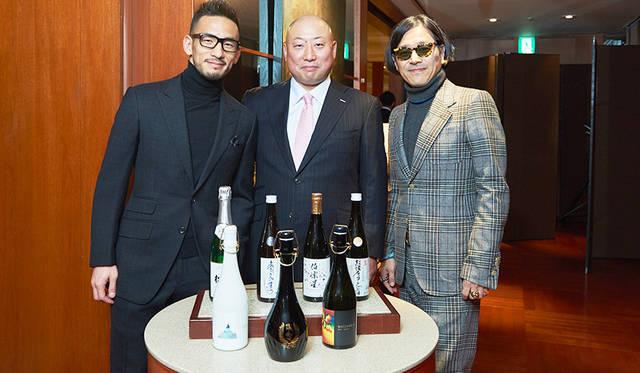 イベントを主催したジャパン クラフト サケ カンパニー代表の中田英寿さんと