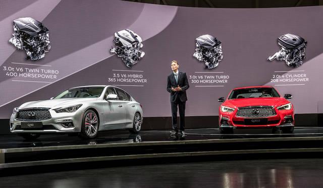 (左)Q50 Hybrid (右)Q50S