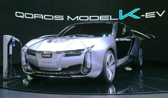 Quolos model-K-EV concept|クオロス モデルK-EVコンセプト<br> 奇瑞(チェリー)とイスラエル企業による上海の合弁ブランド「クオロス」による「モデルK-EVコンセプト」。開発にケーニヒセグも参加。パワーは1,307馬力に達する