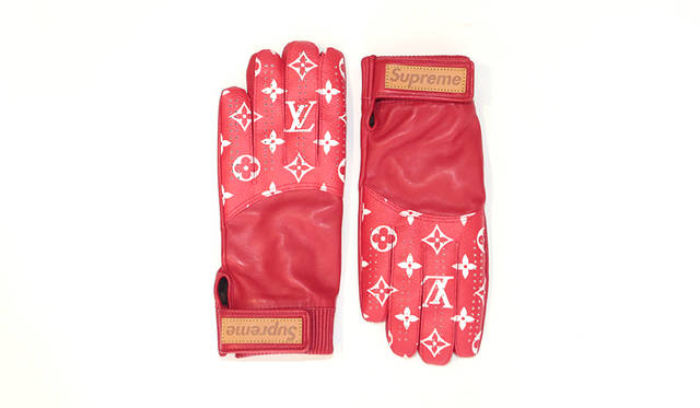LOUIS VUITTON × SUPREME gloves