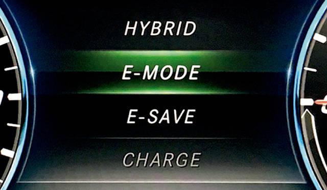 E-MODE選択時のディスプレイ表示