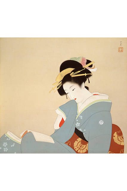 上村松園</br>『つれづれ』</br> 1941(昭和16)年</br> 絹本・彩色 </br>山種美術館