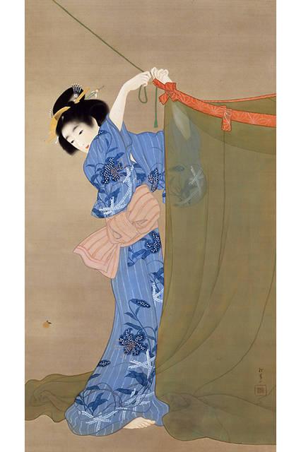 上村松園</br>『蛍』</br>1913(大正2)年</br>絹本・彩色</br>山種美術館