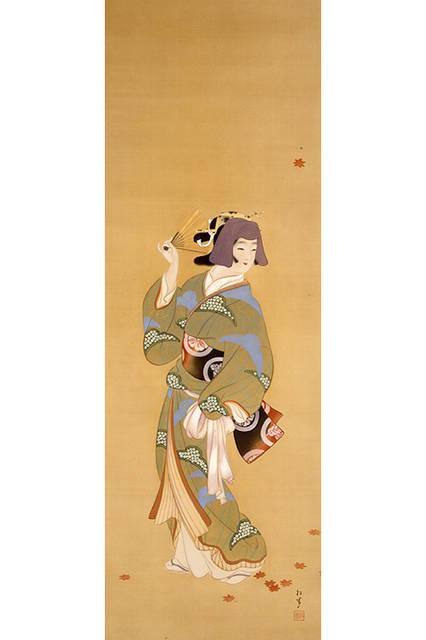 上村松園</br>『夕照』</br> 1912-26年頃(大正時代)</br> 絹本・彩色 </br>山種美術館