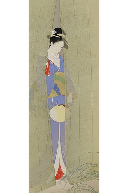 上村松園</br>『夕べ』 </br>1935(昭和10)年</br> 絹本・彩色 </br>山種美術館