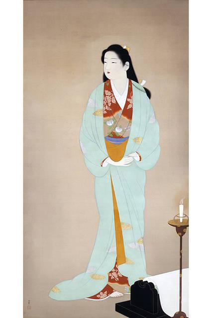 上村松園</br>『砧』</br> 1938(昭和13)年</br> 絹本・彩色 </br>山種美術館