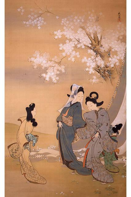 菱田春草</br>『桜下美人図』</br>1894(明治27)年</br>絹本・彩色</br>山種美術館