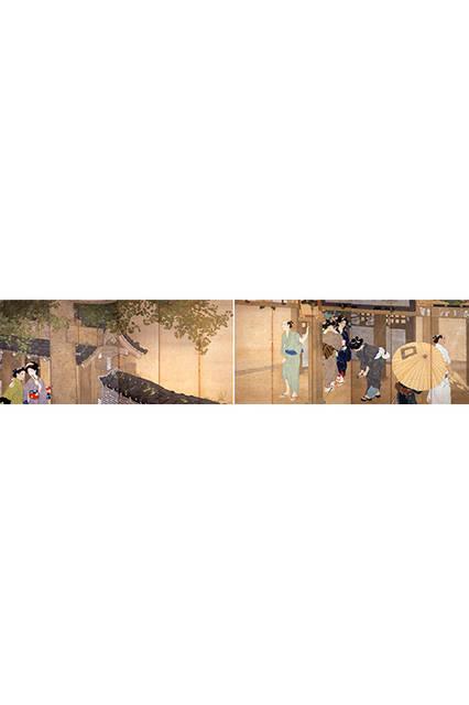池田輝方</br>『夕立』</br> 1916(大正5)年</br> 絹本・彩色 </br>山種美術館