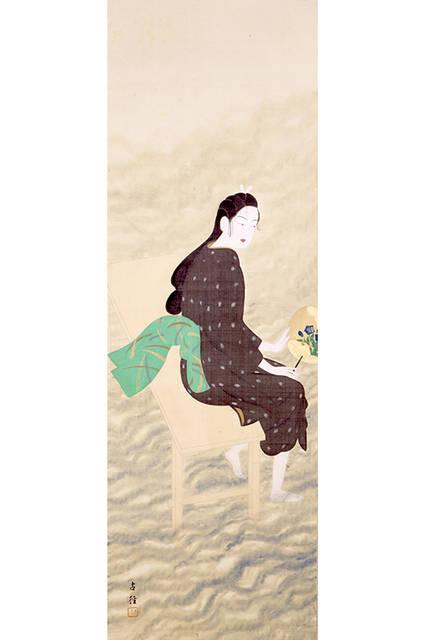 小林古径</br>『河風』{部分)</br> 1915(大正4)年</br> 絹本・彩色 </br>山種美術館
