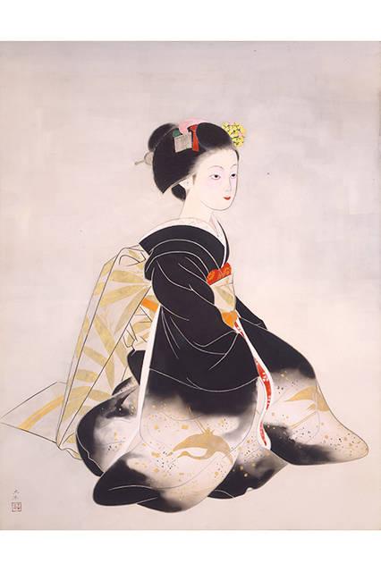 奥村土牛</br>『舞妓』</br> 1954(昭和29)年</br> 絹本・彩色 </br>山種美術館