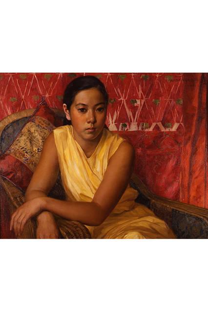 和田英作</br>『黄衣の少女』</br> 1931(昭和6)年</br> カンヴァス・油彩 </br>山種美術館