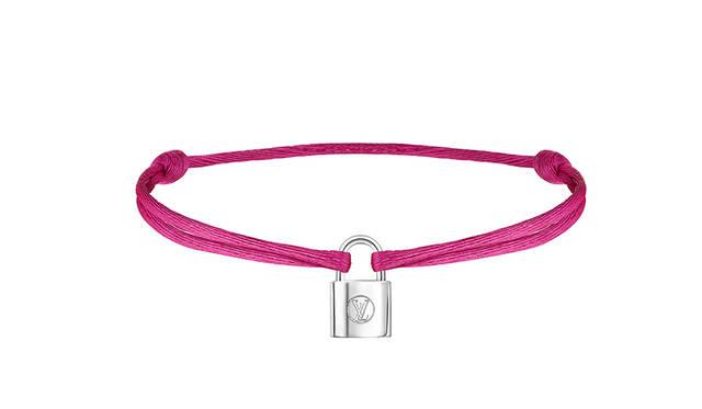 Bracelet Silver Lockit Color Cordon Pink