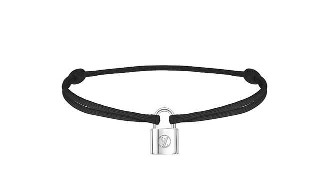 Bracelet Silver Lockit Cordon Black