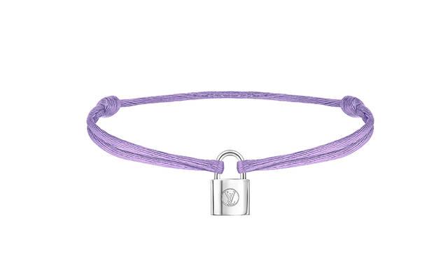 Bracelet Silver Lockit Cordon Purple