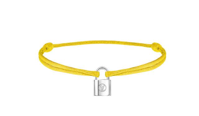Bracelet Silver Lockit Cordon Yellow