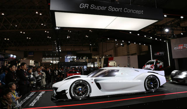 <strong>Toyota GR SuperSport Prototype|トヨタGRスーパースポーツ プロトタイプ</strong><br> ルマン24時間などで活躍するトヨタ「TS050 HYBRID」とほぼ同じ主要パーツで構成されているという「GRスーパースポーツ」プロトタイプ