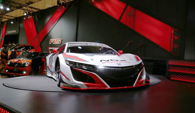 <strong>Honda NSX GT3|ホンダ NSX GT3</strong><br> 日本で初披露のホンダNSX GT3はGT300クラスに向けたモデル