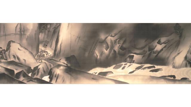 <strong>重要文化財「生々流転」(部分)</strong><br>横山大観 1923年 東京国立近代美術館蔵<br>京都展は巻き替えあり