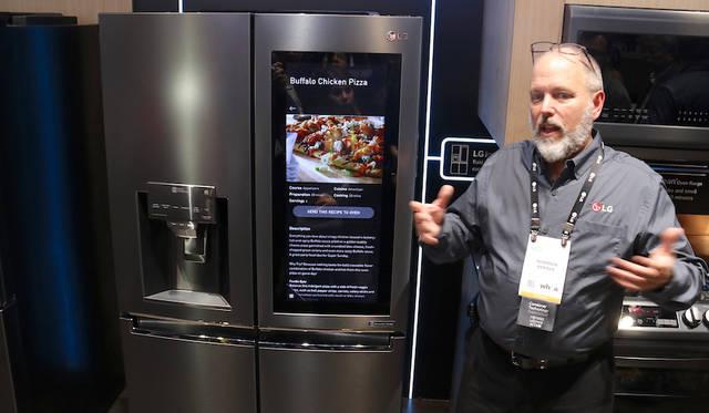 LG InstaView ThinQ Black Stainless Steel Refrigerator