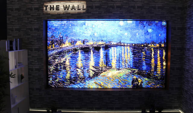 """Samsung 146-inch modular TV with MicroLED """"The Wall"""""""