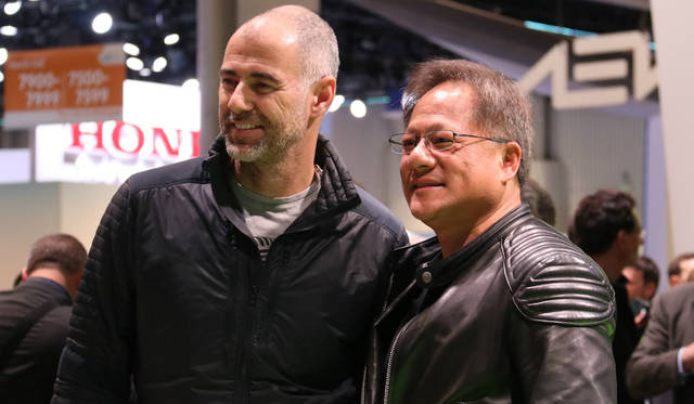 NVIDIA Jen-Hsun Huang (CEO: right) & Daniel Simon (Automotive Designer: left)