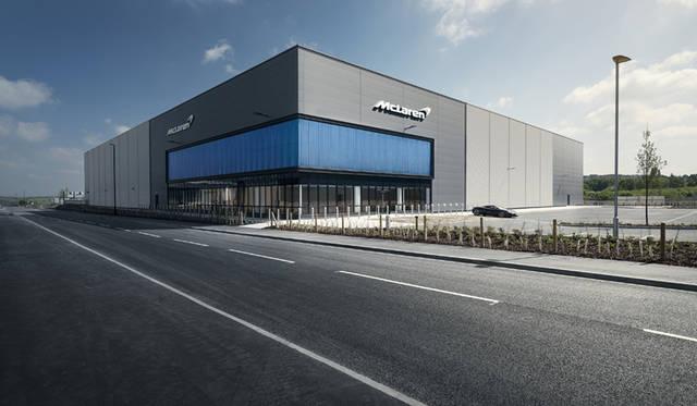 近日中にオープンするという、マクラーレンが5,000万ポンドを投資し建設するコンポジット センター(MCTC)
