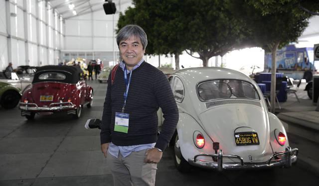 アメリカの専門誌「hot VWs」の編集長、シンスケ・ワタナベ氏