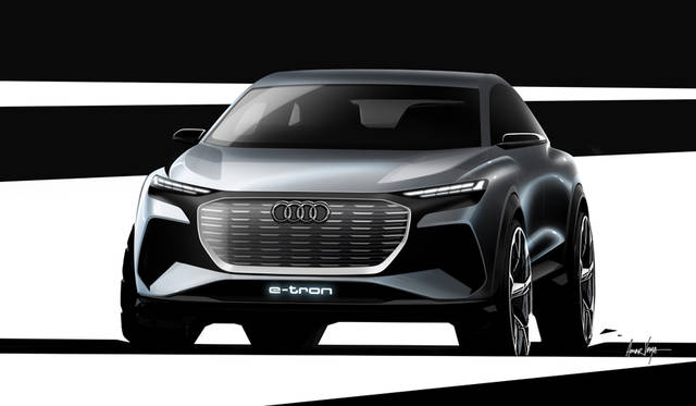 Audi is showcasing its compact SUV study with electric drive at the 2019 Geneva Motor Show. The Audi Q4 e-tron concept provides a glimpse of the next stage of Audi electric mobility and is due to be presented as a volume-production vehicle in late 2020/early 2021.