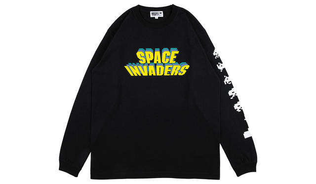 "LONG SLEEVE TEE ""SPACE INVADERS"" S/M/L/XL BLACK 5940円(税込)"